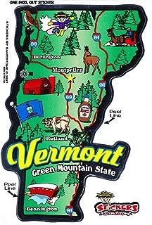 Flagline Vermont - State Map Outline Vinyl Sticker