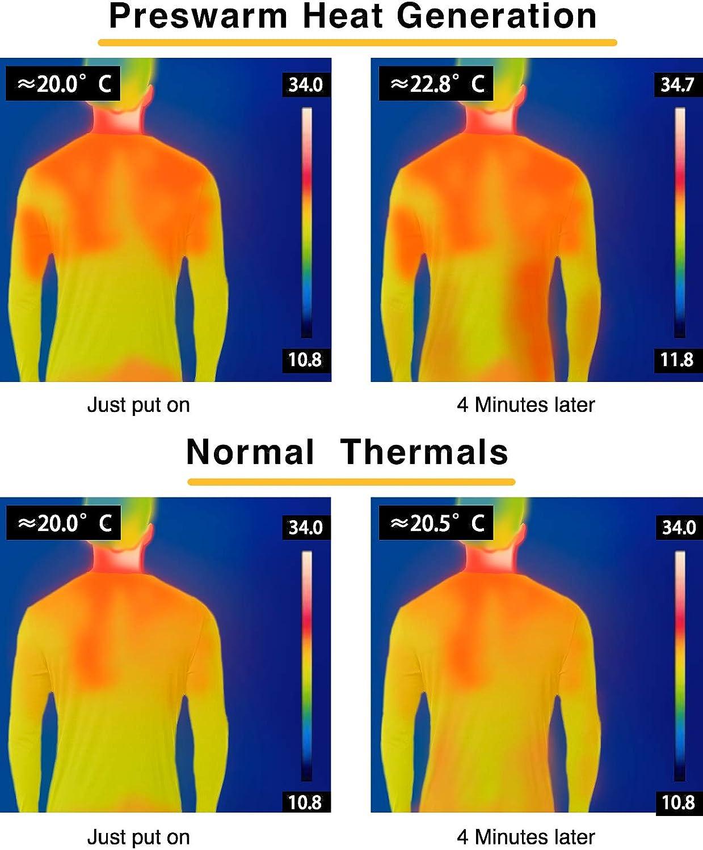 LAPASA Ropa T/érmica para Hombre Calor y Transpirable Conjunto Interior de Invierno sin Sudor PRESWARM Heat Generation M66