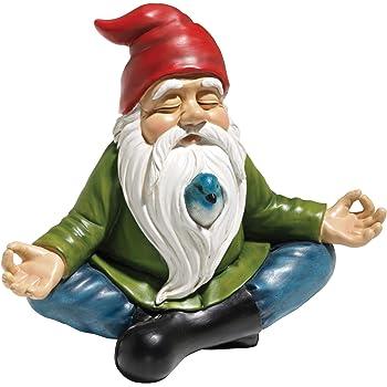 Design Toscano Zen Garden Gnome Statue, 8 Inch, Polyresin, Full Color
