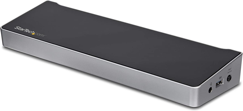 StarTech.com Dual Monitor KVM Docking Station - for Two Laptops - 4K - File Transfer - Universal Laptop Docking Station (USB3DDOCKFT)