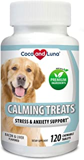 Sponsored Ad - Coco and Luna Calming Treats for Dogs - Helps with Dog Anxiety, Separation, Barking, Stress Relief - Suppor...