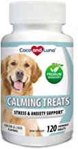 Best Coco and Luna Calming Treats for Dogs - Helps with Dog Anxiety, Separation, Barking, Stress Relief - Supports Calm & Relaxed Behavior -120 Natural Chew-able Tablets Review