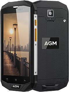 AGM A8 SE 2GB RAM+16GB ROM 4Gスマートフォン 4050mAhバッテリー 5.0インチ Android 7.0 搭載 クアルコムMSM8916 クアッドコア デュアルSIM (ブラック)