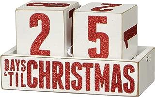 Primitives by Kathy Box Sign Days Til Christmas Countdown Blocks Wooden Calendar