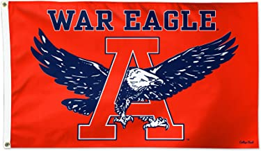 Wincraft Auburn Tigers War Eagle Orange NCAA Football 3 x 5 Foot Flag