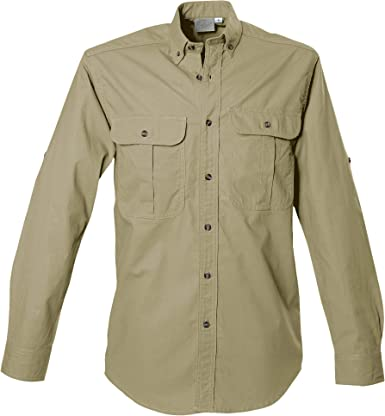 Tag Safari - Camiseta de Manga Larga para Hombre, 100% algodón, para Cazadores, exploradores, fotógrafos y periodistas