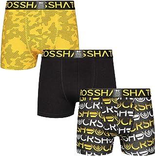 Crosshatch New Mens 3 Pack Boxers Shorts Trunks Gift Gradeling Underwear Set S-XXL