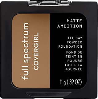 Covergirl Matte Ambition, All Day Powder Foundation, Tan Golden, 0.38 Ounce