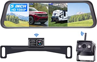 $129 » DoHonest S5 HD 1080P Digital Wireless Dual Backup Camera with 5'' Monitor Kit, Hitch Rear View Camera for Cars,Trucks,Vans...
