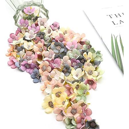 100Pcs artificiel marguerite tissu fleurs têtes, Fleur de marguerite en Plastique Faux pour la décoration de Mariage, Jardin Porche boîte décor, scrapbooking bricolage, Vêtements Accessoires