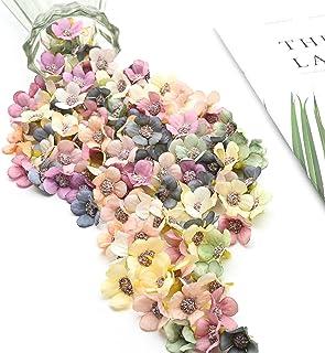 100Pcs artificiel marguerite tissu fleurs têtes, Fleur de marguerite en Plastique Faux pour la décoration de Mariage, Jard...