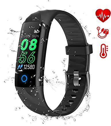 AK1980 Fitness Tracker, Activity Tracker Watch with Heart Rate Monitor Blood Pressure Blood Oxygen Sleep Monitor IP68 Waterproof Smart Watch Step Tracker Calorie Counter for Kids Women Men