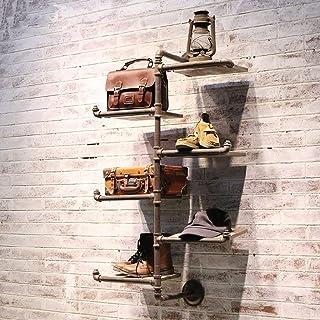 KaiKai Perchero Decorativo Perchero de Pared Estante Zapatero Bolsa Retro Soporte de exhibición de Hierro Forjado