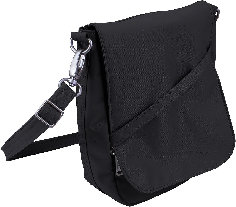 Be Safe Bags AntiTheft RFID Slim Profile Crossbody, UShape  Detachable Strap