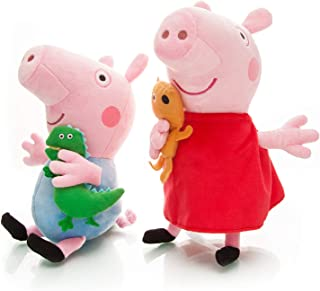 Peppa Plush Pig Baby Toys 2pcs Size 13.5' 12.5' Toys for Babies