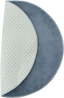 D DOLITY Practical Gray Round Drum Kit Carpet Mat Drum Rug 1.2m for Drummer