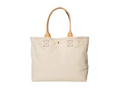 J.Crew Washed Canvas Large Tote (Natural) Handbags