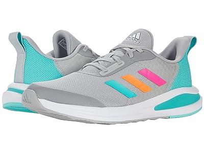 adidas Kids Fortarun (Big Kid) (Grey/Acid Mint/Screaming Pink) Kid