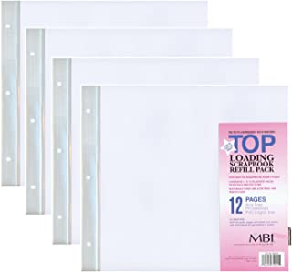 4-PACK - MBI by MCS 12-Inch by 12-Inch Scrapbook Expansion Pages, 6 sheet Count, 12 pages
