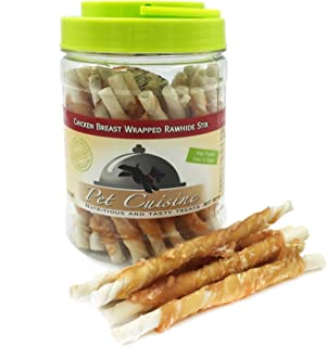 Pet Cuisine Dog Treats Puppy Chews Training Snacks,Chicken Breast Wrapped Rawhide Stix