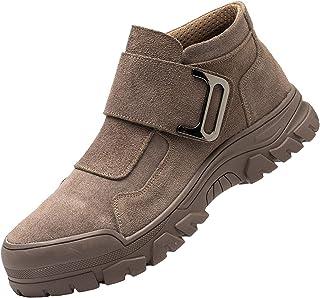 Willsky Bottes De Sécurité Industrielles pour Hommes Steel Toe Cap Chaussures Chaussures Cuir Porterable Soft Bas Slip-on,...