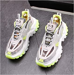 Unisex Running Shoes Mens Womens Air Shock Absorbing Trainers Fashion Low-Top Shoes for Multi Sport Athletic Jogging Fitness Walking Casual Shoes,Green,42EU