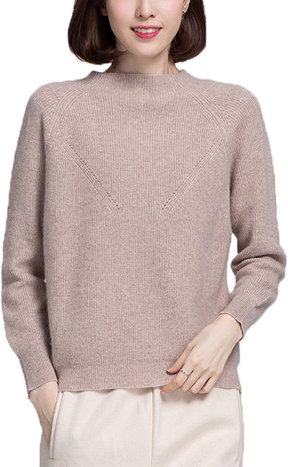 ALAPUSA Women's DiamondShaped Hollow Long Sleeve Cashmere Sweater