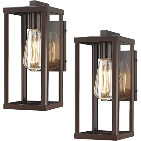 Emliviar Indoor Outdoor Wall Mount Light Fixture Oil Rubbed Bronze Finish With Seeded Glass Shade 2083b2 Orb