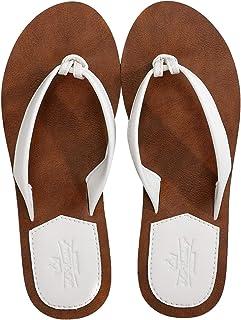 AXBOXING Chanclas Mujer Flip Flop PU Cuero Simple Elegante Sommer Sandalias Verano Suave Ligeras Playa Vacaciones Antideslizantes Tamaño 36-41