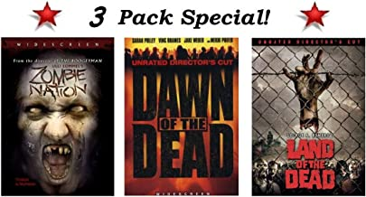3 Pack Special! Zombie Nation (Widescreen), Dawn of the Dead (Widescreen Unrated Director's Cut) and Land of the Dead (Widescreen Unrated Director's Cut)