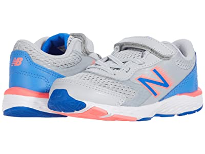 New Balance Kids 680v6 (Infant/Toddler) (Light Aluminum/Faded Cobalt) Girls Shoes