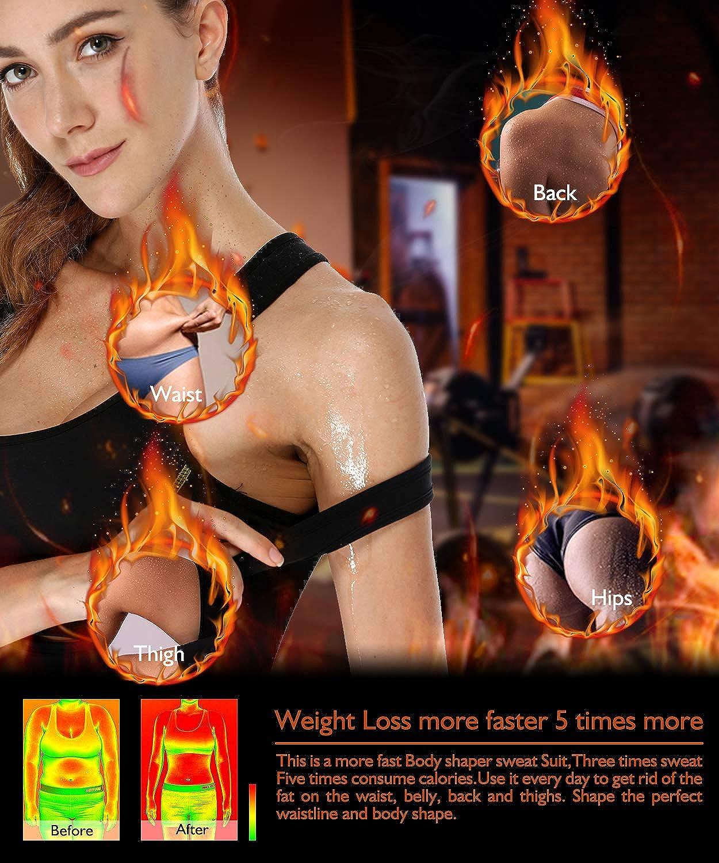 DoLoveY Women Full Body Shaper Sport Sauna Sweat Slimming Vest Suit Neoprene Weight Loss Shapewear Waist Trainer Bodysuit