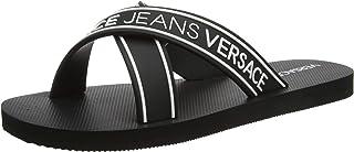 Versace Black White Cross Slide for Mens