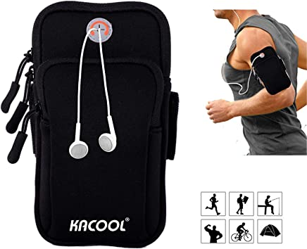 KACOOL Armband for Running Waterproof Washable Mobile Holder Arm Band for Fitness Gym Outdoor Sports, Armband for Phone Under 6.0 Inch