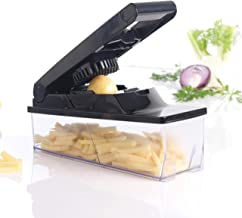 Mastrad Vegetable Fruit Cutter, Multi-Functional Adjustable Manual Chopper, Smart Vegetable Cutter Best and Easy Chop Sala...