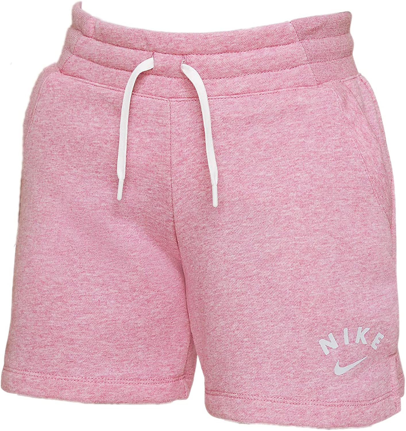 Sportswear French Terry Girls Shorts Big Kids Size Small to Large Color Magic Flamingo