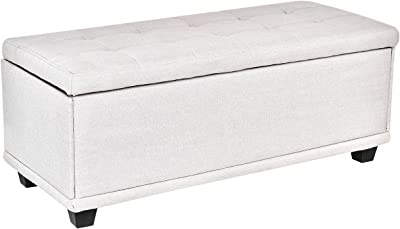Super Amazon Com Homepop Leatherette Storage Bench With Wood Tray Inzonedesignstudio Interior Chair Design Inzonedesignstudiocom