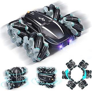 Zosam4WheelDriftRemoteControlRacingCar RC Off-RoadStuntDrift Toy withHeadlights Sounds360°High-SpeedRotation ...