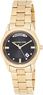 Michael Kors Womens Quartz Watch, Analog Display and Stainless Steel Strap MK6070