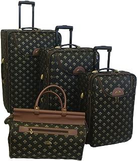 Luggage Lyon 4 Piece Set, Metalic Black, One Size