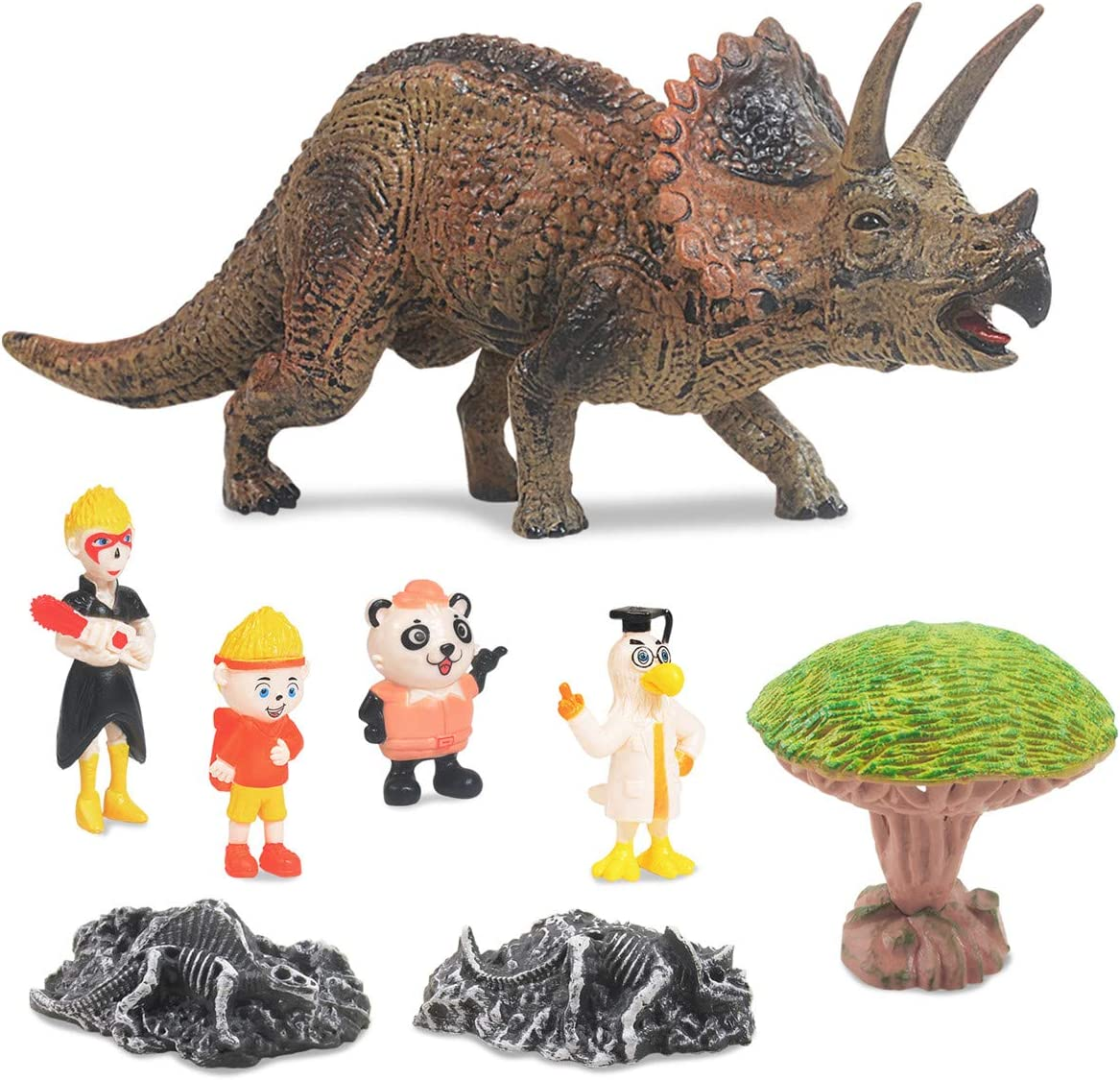 KOMI Dinosaur Max 42% OFF Toys Department store Set for Boys Pcs Triceratop Kit Dino Girls 8