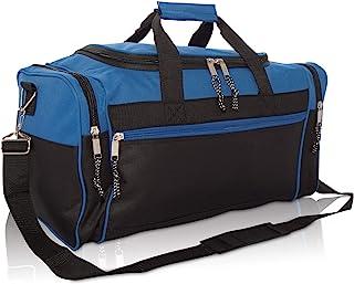 "DALIX 19"" Blank Sports Duffle Bag Gym Bag Travel Duffel with Adjustable Strap in Royal Blue"