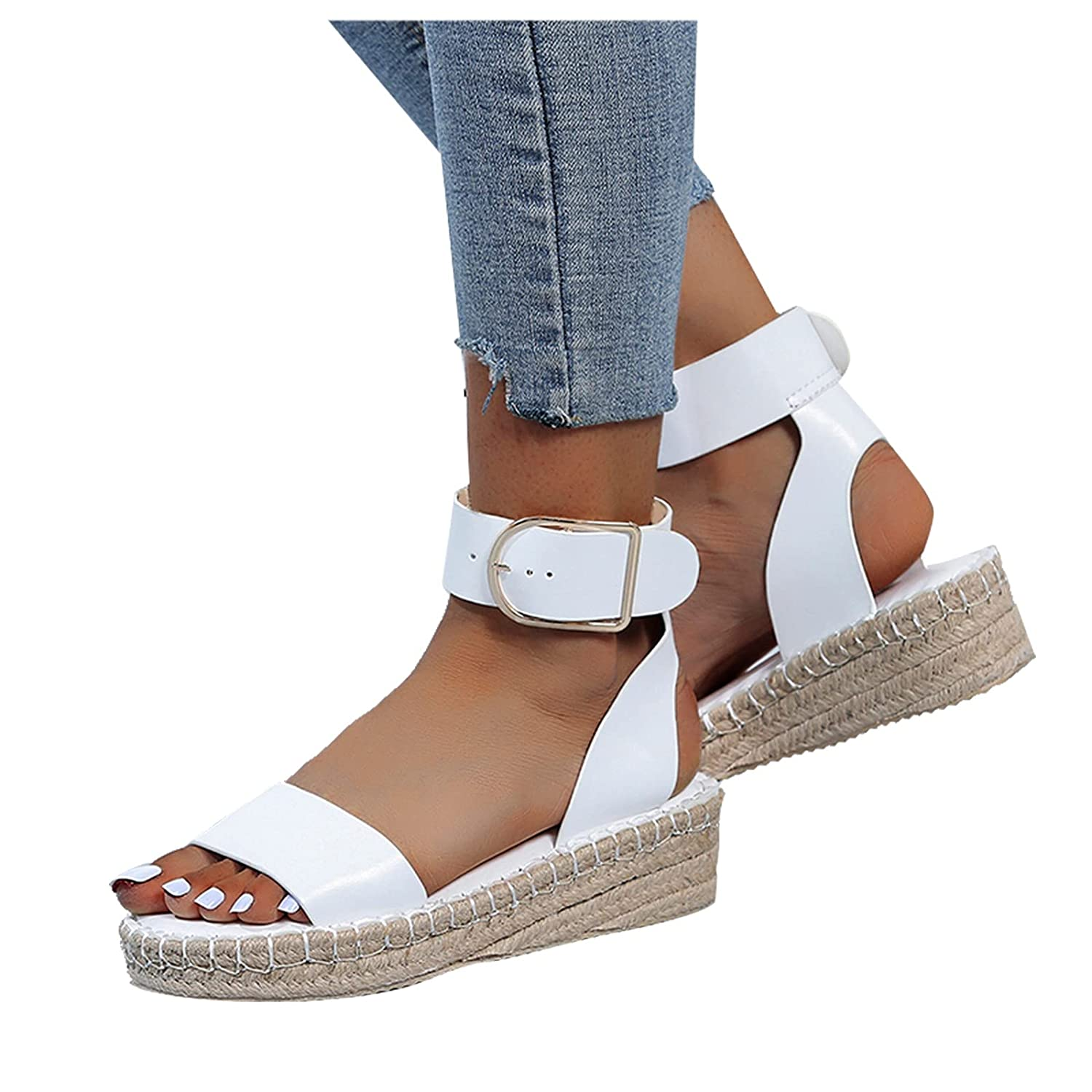 Reokoou Women's Platform Sandals Espadrille Wedges B Strap ! Super beauty product restock quality top! Ankle Max 60% OFF