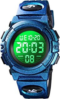 Mens Sports Digital Military Watches - 50M Waterproof Stopwatch Fashion PU Band Watch Alarm Analog LED Backlight Screen Large Face Watches for Men
