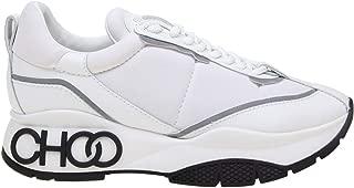 JIMMY CHOO Luxury Fashion Womens RAINEEOU White Sneakers   Fall Winter 19