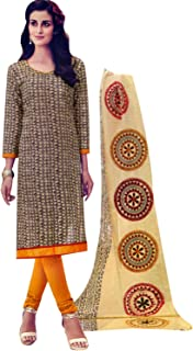 Womens 100% Cotton Ethnic Printed Salwar Kameez Indian Dress Stitched Salwar Suit Ready to wear