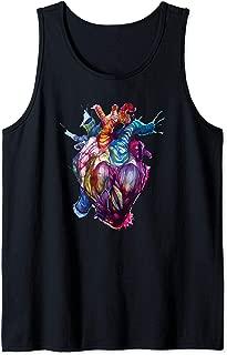 Bleeding Anatomical Heart Paint Splatter Splash Tank Top
