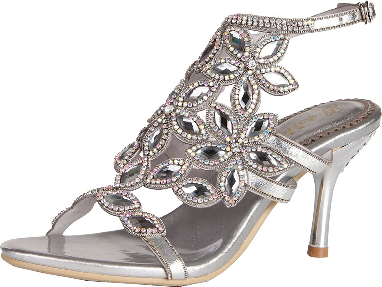 Womens Sexy Heels Sandals Glaring Rhinestone Wedding Dress Job Leisure shoes L03