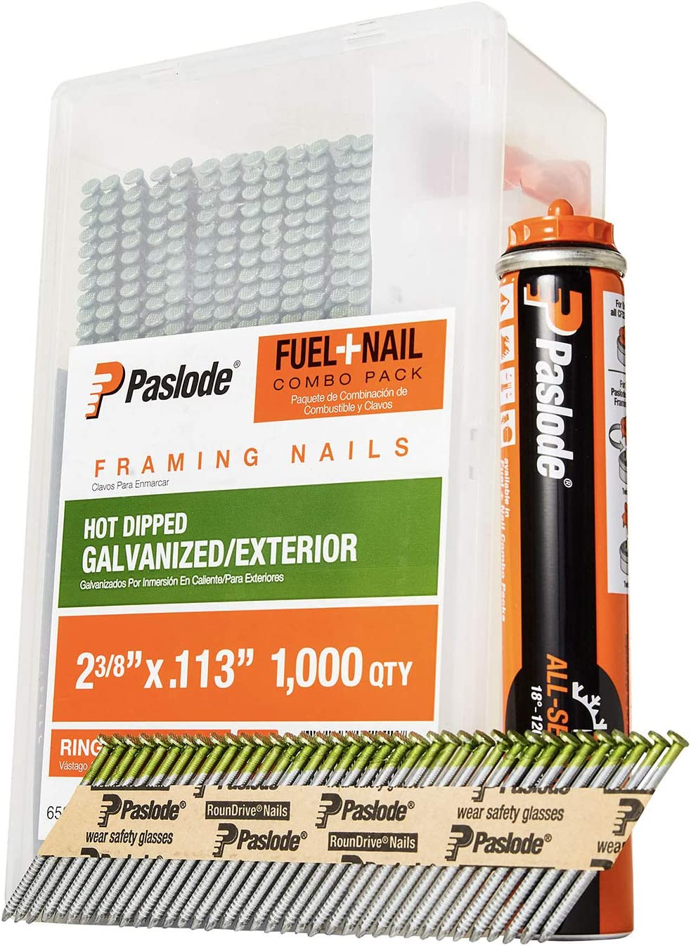 Paslode, Framing Nails and Fuel Pack, 650526, 2 3/8 inch x .113
