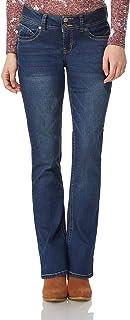 "WallFlower Women's Juniors Luscious Curvy Stretch Denim Bootcut Jeans (30""-32""-34"" Inseam)"